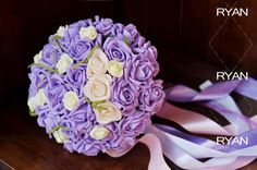 Purple And White 30 Rose Cheap Wedding Bouquet 2015 New Real Image Bridal Accessories Vintage Bridesmaids Hand Holding Flowers in Stock HC from Engerlaa,$13.62 | DHgate.com