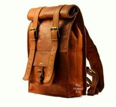 Handmade Leather Backpack, Leather Laptop Backpack, Travel Backpack. | TheHumanEra - on ArtFire