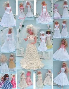 Crochet Fashion Doll Barbie Pattern 281 by JudysDollPatterns