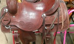 Don Rich Floral and Diamond Tooled Cowhorse Saddle - https://hendersonswestern.com/home/shop/don-rich-floral-and-diamond-tooled-cowhorse-saddle/