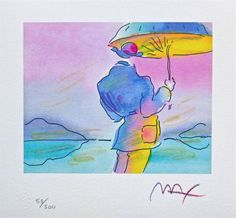 Umbrella Man, Ltd Ed Lithograph