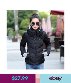 ec2311fb402 2016 Winter Jacket women Plus Size Womens Parkas Thicken Outerwear solid  hooded Coats Short Female Slim Cotton padded basic tops - FASHION BookFace  ...