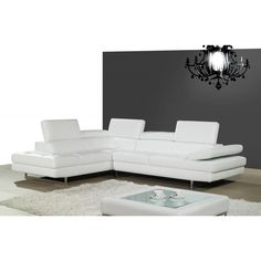The A761 Sectional by J&MThe A761 Sectional by J&M is classfully designed with padded adjustable armrest that feature a ratchetsystem for adjustability. The 766 sectional also feat- -ures 6 adjustable head cushions, and boxed back, seat cushions. This beautiful sectional is Constructed