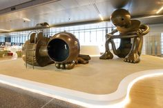 Whimsical Bronze Sculptures Turn Airport into Interactive Playground - My Modern Met