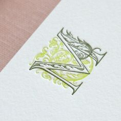 """Letter M Initial Letterpress Note Card Set    Totally!! I'm always """"M""""!!"""