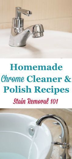 Simple, frugal and natural homemade chrome cleaner and polish recipes {on Stain Removal 101}