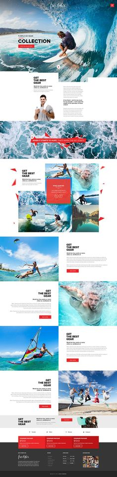 FreeStyler - Retina Parallax Responsive Template on Behance: