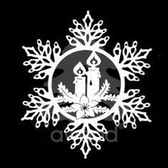 Sněhová vločka - svíčky Christmas Fonts, Christmas Stencils, Christmas Candles, Diy Christmas Ornaments, Christmas Decorations, Quilling Christmas, Christmas Paper, Winter Art Projects, Christmas Projects