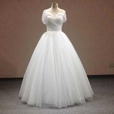 Find More Wedding Dresses Information about Vestidos De Novia Tulle Pleat…