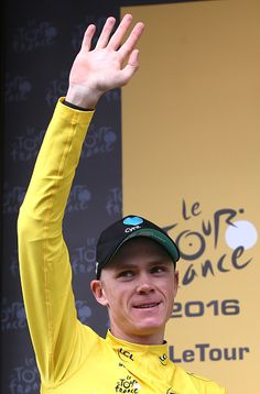 #TDF2016 Chris Froome of Great Britain and Team Sky retains the leader's yellow jersey following stage 19 of the Tour de France 2016 a stage between...