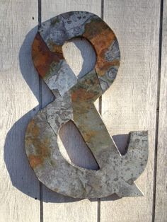 Ampersand ON SALE Letter metal industrial par WestVintageTradingCo, $70,00
