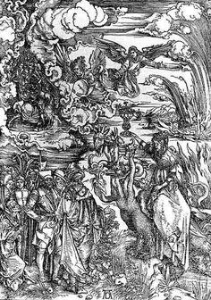 """""""The Whore of Babylon"""" (Revelation) by Albrecht Durer c. 1496-98."""