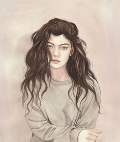 Illustration / Lorde by Henrietta Harris