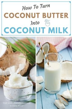 I created this short video to show you how easy it is to whip up a quick cup of coconut milk that you can use in all of your Green Thickies! Read the blog post to find out why we need to avoid most store-bought coconut milks, the difference between the 2 types of coconut milk, the secret name for coconut butter that will save you a fortune, and get my easy coconut milk recipe video. Make Ahead Smoothies, Good Smoothies, Easy Smoothie Recipes, Blender Recipes, Smoothie Ingredients, Salad Recipes, Make Coconut Milk, Coconut Milk Recipes, Raw Vegan Recipes