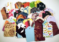Tags  Gift Tags Price Tags  Bulk Package  in  Funky Mix. $5.00, via Etsy.