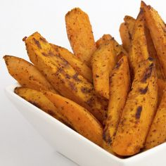 This sweet potato fries recipe is seasoned with just the right amount of spice to make them very interesting.
