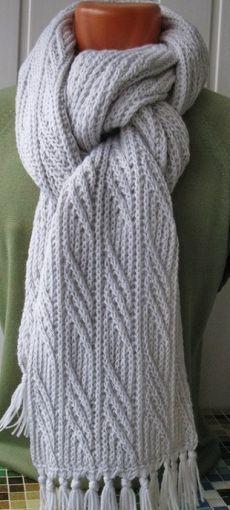 Мужской шарф спицами. Схема теплого шарфа спицами | Handmade24