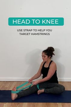 These yoga poses are great at releasing tight hamstrings to get you more flexible. I love practicing these since I am a beginner and they feel so good! Yoga For Beginners Flexibility, Yoga Routine For Beginners, Tight Hamstrings, Tight Hips, Stretching Exercises, Stretches, Cool Yoga Poses, Yoga At Home, Back Muscles