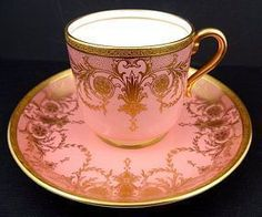 Distinctive Antique Mintons Demitasse Cup & Saucer