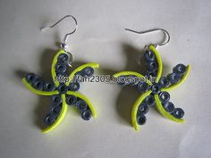 Handmade Jewelry - Paper Quilling Star Earrings (2)