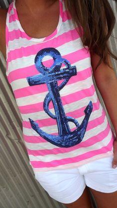 Beyond love!!! 2 fav's of mine, pink & anchors!