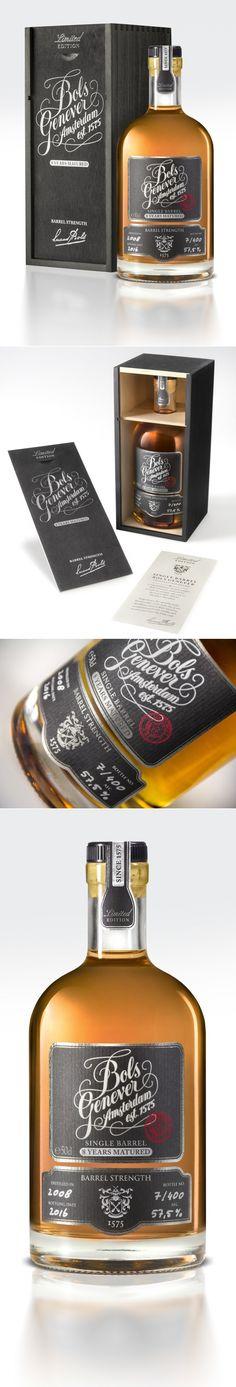 Bols Single Barrel Genever (Dutch Gin) — The Dieline   Packaging & Branding Design & Innovation News