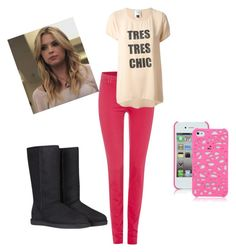"""Hanna Marin"" by fridapolyvore04 ❤ liked on Polyvore featuring UGG Australia, Armani Jeans and Edward Achour"