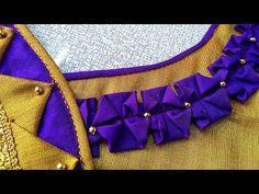 Latest Blouse Neck Designs, Saree Blouse Neck Designs, Simple Blouse Designs, Stylish Blouse Design, Back Neck Designs, Blouse Patterns, Patch Work Blouse Designs, Blouse Styles, Blouses