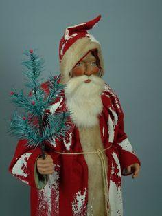 German Paper mache Santa/candy container hand made by Paul Turner studio