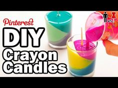 DIY Crayon Candles - Man Vs Pin - Pinterest Test #54 - YouTube