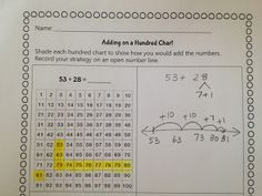 Classroom Freebies: 100 Chart Addition