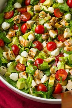 Caprese Chicken and Avocado Chopped Salad   Cooking Classy