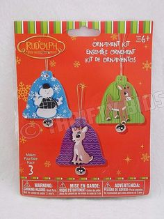 Rudolph Red Nosed Reindeer Christmas Craft Ornament Kit Makes 3 By Darice 6+  #Darice