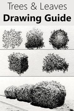 Tree Drawings Pencil, Ink Pen Drawings, Realistic Drawings, Landscape Sketch, Landscape Drawings, Landscape Drawing Tutorial, Drawing Skills, Drawing Techniques, Drawing Tutorials