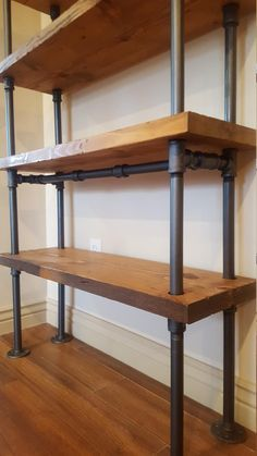 Pipe Shelving Unit / Pipe Bookcase / Industrial Book Case / | Etsy
