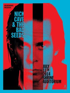 Nick Cave - Shrine Auditorium 2014 Gig Poster
