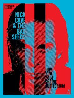 Nick Cave - Shrine Auditorium 2014 Gig Poster
