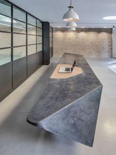 cast concrete reception desk - Google Search: