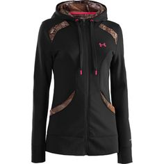 A touch of pink and camo--what could be better? Under Armour Outdoor STORM FZ Hoody (Pre-book now!)