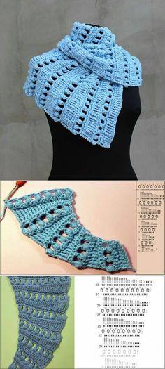 Crochet scarf pattern #scarf #handmade