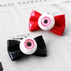 Eyeball & Bow Earrings