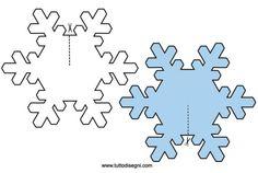 Fiocchi di neve 3D: sagome da ritagliare