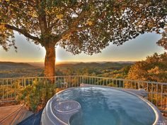 someday we will have this jacuzzi with a view of Napa Valley.