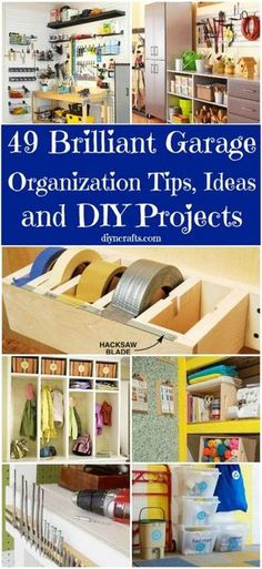 49 Brilliant Garage Organization Tips, Ideas and DIY projects.