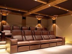 Amazing Home Theater Designs : See photos about Home Theater Designs From CEDIA 2014 Finalists from HGTV Home Theater Room Design, Home Cinema Room, Home Theater Setup, At Home Movie Theater, Home Theater Rooms, Theatre Design, Theater Seating, Room Acoustics, Studio Room