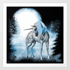 Winter Dreams Art Print by texnotropio Dream Art, Moose Art, Horses, Dreams, Art Prints, Winter, Animals, Art Impressions, Animales