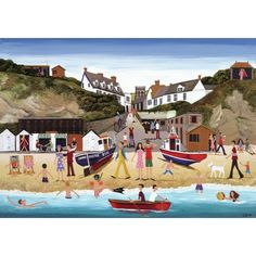Message: Blank Size: x - Louise Braithwaite – Limited Edition Prints and Greetings Cards. Wooden Puzzles, Jigsaw Puzzles, Exeter, Naive, Devon, Bold Colors, Seaside, Contemporary Art, Prints