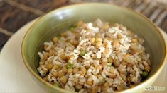 Prueba esta receta de Arroz Integral con lentejas, una receta fácil y económica.
