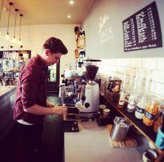 Working some magic #loveyourcafe #jackrabbitskitchen #derby #ashbourne  #workingmagic  #coffeemagic