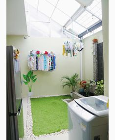 60 drying room design ideas that you can try in your home 16 ~ Litledress Laundry Room Design, Home Room Design, House Design, Patio Design, Diy Design, Design Ideas, Outdoor Laundry Rooms, Outdoor Kitchens, Drying Room